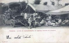 Caprino Veronese - Fanteria , baracche del vivandiere - 1902