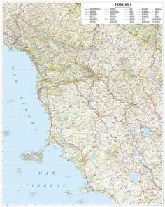 Toscana - Tuscany Road Map.