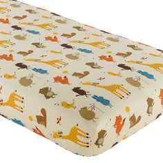 The Land of Nod | Baby Sheets: Animal Print Fitted Crib Sheet in Crib Fitted Sheets