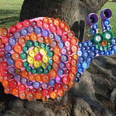 Bottle cap art- snail