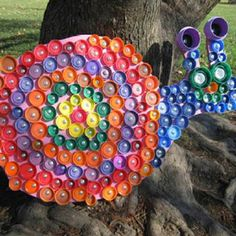 Bottle cap art- snail