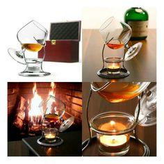 http://cocktail-glaeser.de/set/cognac-und-brandy-warmer-teelicht-mit-schwenker-glas-im-set/ Cognac und Brandy Wärmer Teelicht mit Schwenker Glas im Set