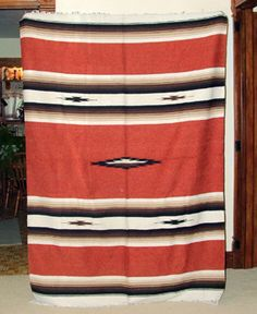 Mexican blanket A quality blanket. Classic Southwest design in a terra cotta brown / Rust color. Fringed ends. Durable Seat + S&H Southwest Home Decor, Truck Seat Covers, Blanket Poncho, Indian Rugs, Dream Home Design, Best Sofa, Mexican Style, Mexican Blankets, Blanket Design