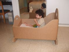 Cardboard Crib | This crib was made for Eli on our first tri ...