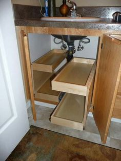 Multi functional cabinet under the sink with drawers for tiny house living condo unit or tiny bedroom