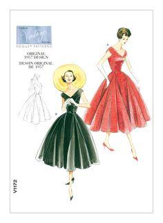 V1172   Misses'/Misses' Petite V-Neck Dress and Belt Sewing Pattern   Vogue Patterns