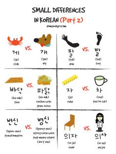 Small Differences Similar Words in Korean