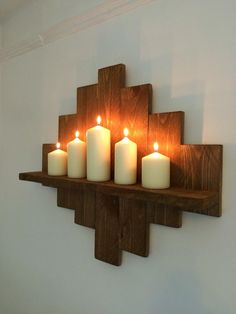Stunning Rustic Pallet Designs  shelves - made from used pallet wood, sanded by hand then finished by stain/paint or beeswax