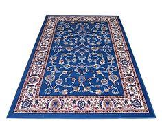Parure di 3 tappeti Royal Shiraz azzurro, max 70x130 cm