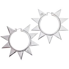 Pre-owned Eddie Borgo Spike Punk Earrings ($245) ❤ liked on Polyvore featuring jewelry, earrings, spikes stainless steel jewelry, pre owned jewelry, punk rock earrings, spike earrings and eddie borgo