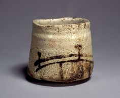 橋姫文茶碗Hashi Hime Mon Chawan,Shino ware,16-17th century,Japan,志野橋文茶碗(しのはしもんちゃわん) 銘 橋姫(めい はしひめ)
