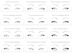 Different eyeliner techniques by Kiko Cosmetics