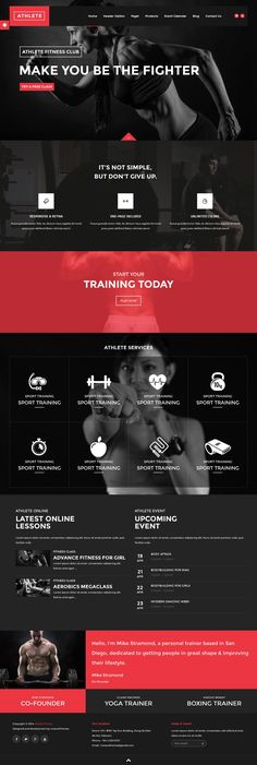 Mens Fitness: Athlete - Fitness, Gym and Sport Wordpress theme. ...