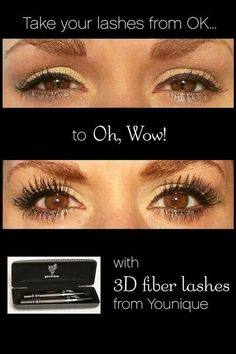 From OK to OH WOW!!!    #3dfiberlashes #magicmascara  www.youniqueproducts.com/SarahGreen