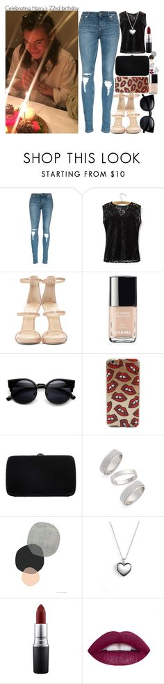 """Celebrating Harry's 22nd birthday"" by fangirl-preferences ❤ liked on Polyvore featuring Giuseppe Zanotti, Chanel, Sergio Rossi, Topshop, Seventy Tree, Pandora, MAC Cosmetics and L.A. Girl"