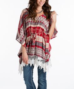Another great find on #zulily! Rancho Estancia Red & Gray Katina Tunic by Rancho Estancia #zulilyfinds