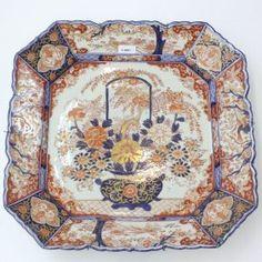 19世紀 の 日本 の 磁器 バーバーのプレート 19th Century Japanese Porcelain Barber's Basin