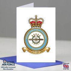 RAF Halton Station Crest Badge Presentation Promotion Retirement Card Gift