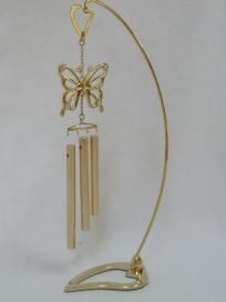 I LOVE these!     BRAND NEW MASCOT AUSTRIAN CRYSTAL PEDESTAL CHIMES, BUTTERFLY, $5.99