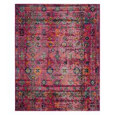 Safavieh Artisan Amelia Framed Floral Rug, Pink Other