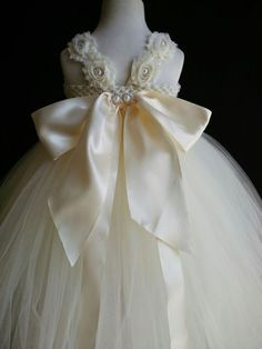 Ivory Princess Flower Girl Tutu Dresses with Big Bow and Sash, Toddler Tutu Dresses, Wedding Tulle Dresses sold by MagicTulleCouture. Shop more products from MagicTulleCouture on Storenvy, the home of independent small businesses all over the world. Girls Tutu Dresses, Tutus For Girls, Little Girl Dresses, Princess Flower, Flower Girl Tutu, Flower Girl Dresses, Baby Girl Dress Patterns, Robes Tutu, Toddler Tutu