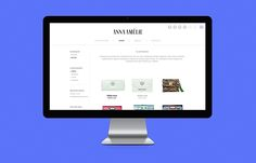 Anna Amelie webdesign on Behance