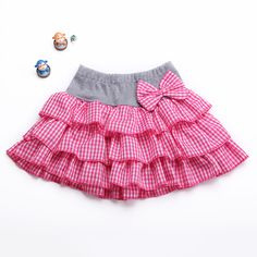 pocket Picture - More Detailed Picture about New 2015 Girl cotton plaid Skirt children 2 11 colors Children Bow Casual Mini Lovely skirt girls spring/summer skirts Picture in Skirts Little Girl Skirts, Skirts For Kids, Dresses Kids Girl, Little Girl Outfits, Kids Outfits, Summer Skirts, Cheap Skirts, Baby Girl Dress Patterns, Baby Dress Design