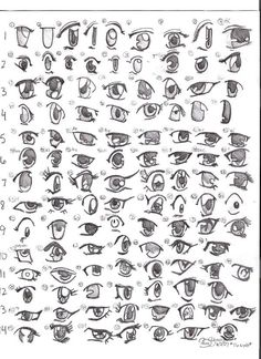 Back to drawing manga and anime. And today we're going how to draw probably the most important part of a manga character, the eyes. Drawing Techniques, Drawing Tips, Drawing Reference, Drawing Ideas, Drawing Lessons, Manga Eyes, Anime Eyes, Draw Eyes, Manga Drawing
