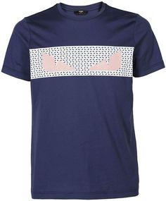 BNWT VERSACE jeans noir brodé bleu Tiger Logo T-shirt Maglietta