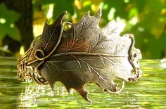 Oak Leaf Wire Wrapped Bracelet by TangoCatGems