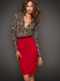 My dream outfit...cheetah and red. What could be better!
