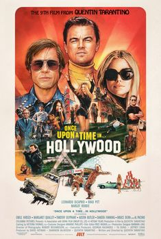 High resolution official theatrical movie poster ( of for Once Upon a Time in Hollywood Image dimensions: 2024 x Directed by Quentin Tarantino. Starring Leonardo DiCaprio, Brad Pitt, Margot Robbie, Al Pacino Charles Manson, Timothy Olyphant, Al Pacino, Quentin Tarantino, Leonardo Dicaprio, Brad Pitt, Luke Perry, Hollywood Poster, In Hollywood