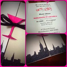 SEX and the CITY Themed Invitations for Birthday by OneChelleOfAMug