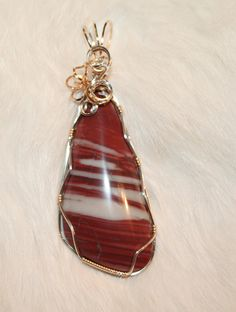 Red Dolomite Pendant GNJP118 by gnjjewelry on Etsy, $26.00