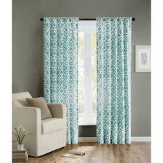 Living room, by sliding doors - Madison Park Ella Curtain Panel | Overstock.com Shopping - Great Deals on Madison Park Curtains