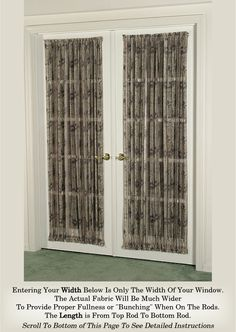 Country Curtains Sheer Door Panel Home