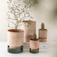 Bergs Potter The Hoff Pot -ruukku - Green & Clay Green Clay, Planter Pots, Italia, Terracotta