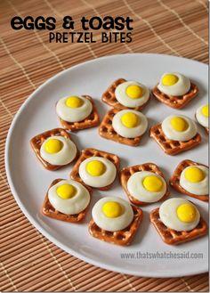 Eggs and Toast Pretzel Bites at thatswhatchesaid.com