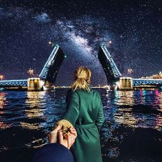 Follow me to the famous bridge openings in Saint Petersburg in Russia ... ( Follow Me Project - Murad Osmann )