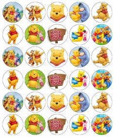 Winnie The Pooh x 30 Cupcake Toppers Edible Wafer Paper Fairy Cake Toppers Winnie The Pooh Cake, Winnie The Pooh Birthday, Edible Cupcake Toppers, Birthday Cake Toppers, Happy Birthday Candles, Disney Figurines, Unicorn Cake Topper, Fairy Cakes, Wafer Paper