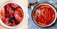 W sezonie, kiedy warzywa są tanie i łatwo dostępne, warto poświęcić trochę czasu i przygotować przetwory - zwłaszcza przetwory z pomidorów... Pot Roast, Thai Red Curry, Ketchup, Spaghetti, Beef, Ethnic Recipes, Food, Carne Asada, Meat
