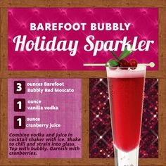 red moscato holiday Sparkler