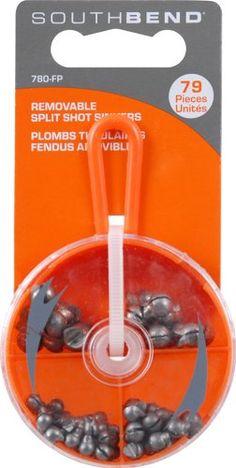 South Bend Removable Split Shot Assortment (Orange) - http://bassfishingmaniacs.com/?product=south-bend-removable-split-shot-assortment-orange