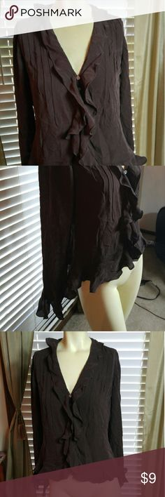 100% Silk blouse Very nice in good condition Ralph Lauren Tops Blouses
