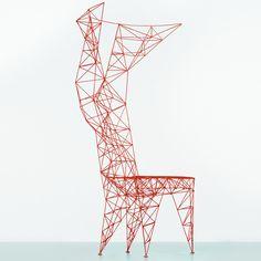 steel Pylon Chair designed by Tom Dixon