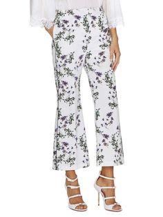 Pantaloni Primavera Estate 2018 - Pantaloni a fiori a zampa Blumarine