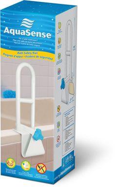 AquaSense Bath Safety Rail White