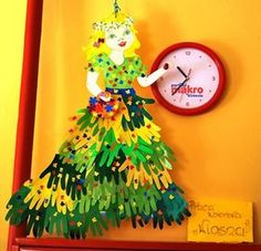 Preschool, Clock, Christmas Ornaments, The Originals, Holiday Decor, Diy, Home Decor, Crafts, Ideas