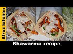 Street Style Shawarma Recipe | Homemade Shawarma Recipe | Chicken Shawarma Recipe | Kuboos Recipe - YouTube Recipe Chicken, Chicken Recipes, Shawarma Recipe, Tandoori Masala, Food Festival, Cravings, Street Style, Homemade, Kitchens
