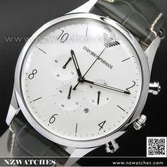 Emporio Armani Chronograph Leather Strap Mens Watch AR1861. Nzwatches.com f7871b807f2e